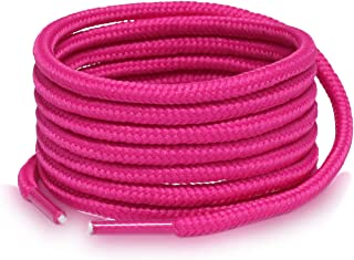 Round Solid Color Shoe Laces for Sneakers & Boots with 4 Shoelace Tip Algets