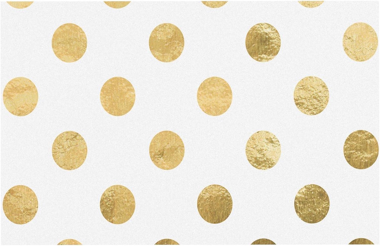 KESS InHouse KESS Original Scattered gold  Metallic Pet Bowl Placemat, 24  x 15