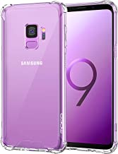 MoKo Cover Compatible for Samsung Galaxy S9 Case, TPU Bumper Cushion Cover with Reinforced Corners, Anti-scratch Hard PC Transparent Back Panel for Samsung Galaxy S9 5.8 Inch - Crystal Clear