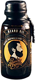 (Hemlock) - Harvest Beard - Moringa & Hemp Beard Oil for Men with Natural and Organic Ingredients - For a Clean and Healthy Groomed Beard and Moustache - Travel Size (Hemlock)