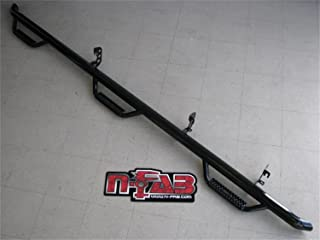 N-FAB D10103CC-6 Gloss Black Nerf Step; Bed Access Dodge Ram 1500 14-15.5, 2500 / 3500 Crew Cab 6.4' Bed (Also Fits for Dually with 8' Bed) 10-18