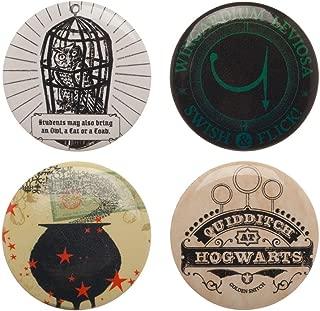 Harry Potter Button Pins Set - 4-Piece