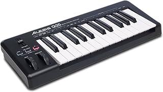 Alesis Q25 - Teclado controlador MIDI USB compacto con 25 teclas sensibles a la velocidad, salida MIDI, ruedas de pitch y modulación y software Ableton Live Lite incluido