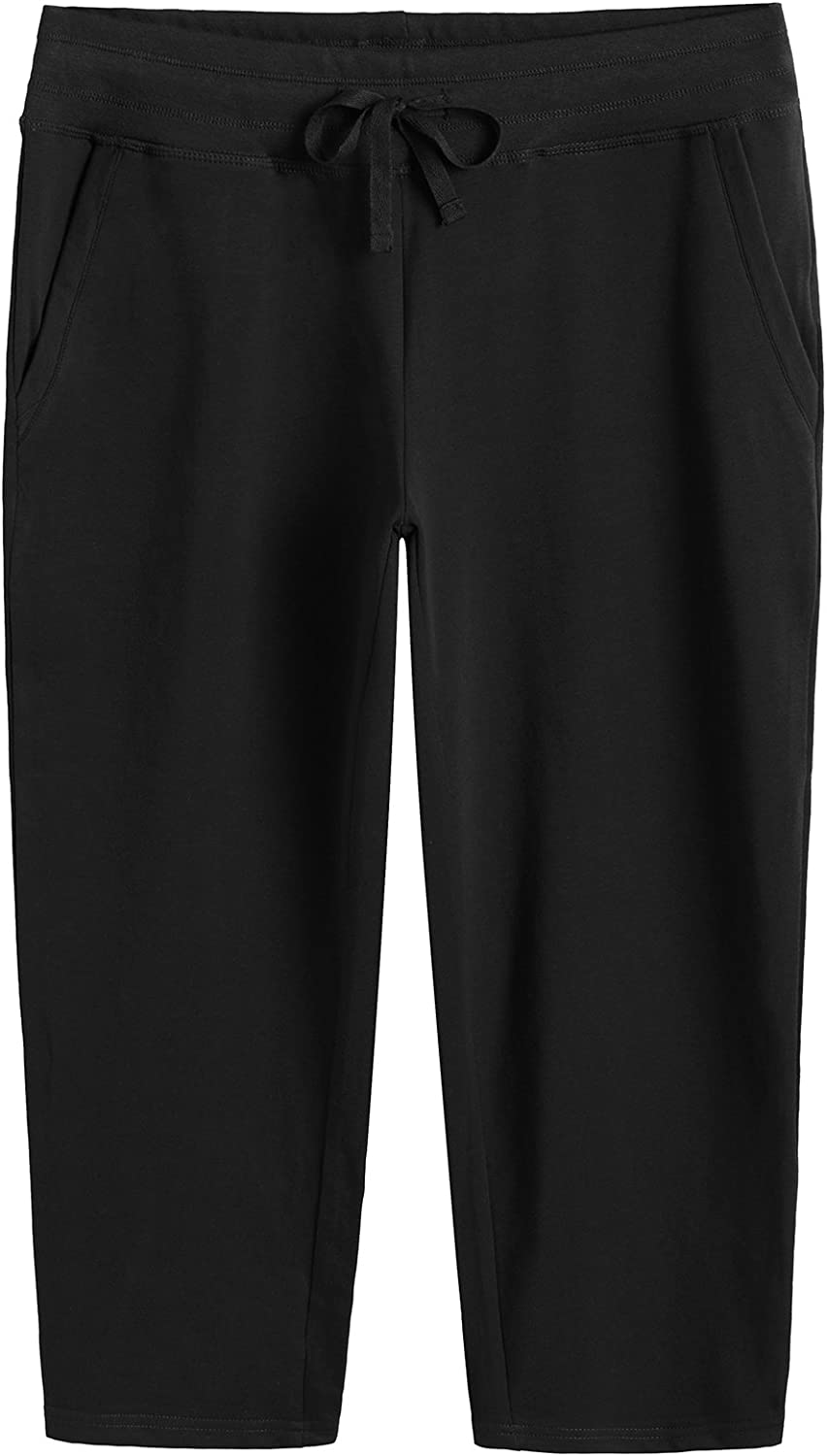 Weintee Women's Cotton Capri Pants with Pockets