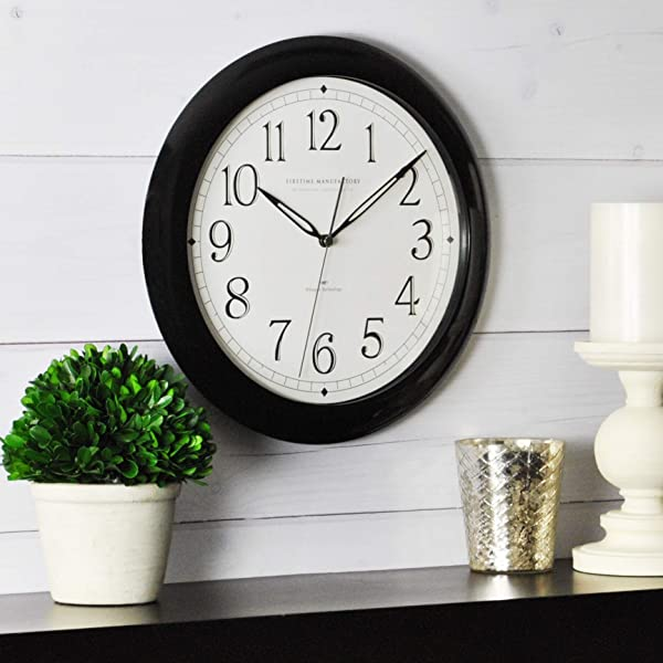 FirsTime Co 99115 FirsTime Black Slim Wall Clock 11