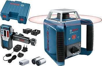 Bosch Professional GRL 400 H - Nivel láser giratorio (uso con un solo botón, alcance Ø: hasta 400m, en maletín)