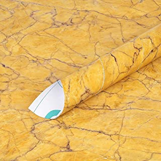 ANNACREATIONS Self Adhesive Wallpaper Waterproof Vinyl Stickers PVC Wall Papers (12 x 100'' inches, Valencia Yellow)