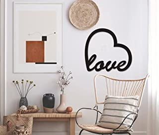 Tum Tum Heart Love High MDF Acrylic Plaque Black Painted Cutout Ready Stick or Hanging   Home Bedroom Living Area Office C...