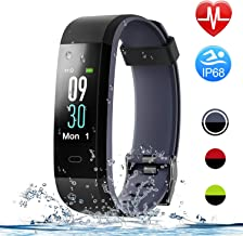 HolyHigh Smart Bands,Fitness Tracker Watch IPX68 Waterproof Colorful Screen Heart Rate Sleep Monitor Pedometers Calorie Counter Call Messages Alarm Reminder Reject Call for Men Women Boys Kids