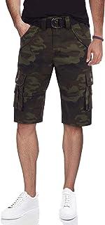 سراويل قصيرة رجالية من X RAY برمودا تكتيكية بألوان مموهة وألوان ثابتة 12.5 بوصة طول الركبة كلاسيكي صالح متعدد الجيوب