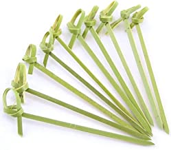 JapanBargain 1596x20, Bamboo Cocktail Picks Skewers for Appetizer Snack Sandwich Finger Food Tapas Fruit Kabob BBQ Hors D'Oeuvre Twisted End Knotted Bamboo Sticks, 4 inch, 1000pcs