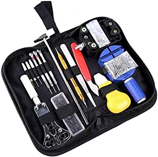 Haobase 147 PCS Watch Repair Tool Kit Case Opener Spring Bar Tool Set Bonus A Hammer