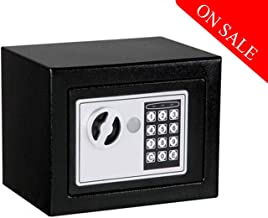 Savya home® Home Security Electronic Safe,Locker,Chest,Safe Box (23X17X17) cm Black
