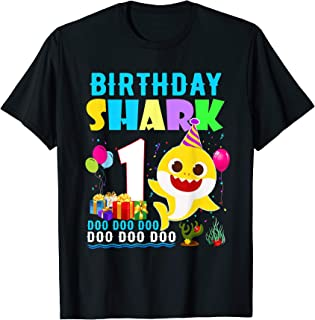 Baby Shark 1 Years Old 1st Birthday Doo Doo Doo T-Shirt