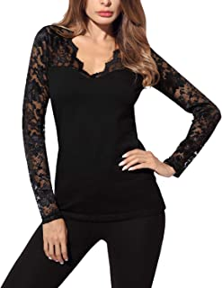 lace tops with long sleeves