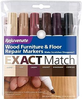 Rejuvenate RJ6WM Wood Furniture & Floor Repair Markers, 6 Assorted Tones - Quantity 1
