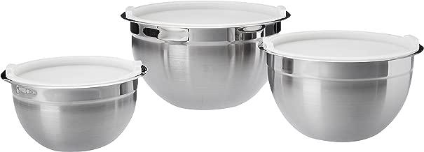 AmazonBasics Stainless Steel Mixing Bowls, Set of 3