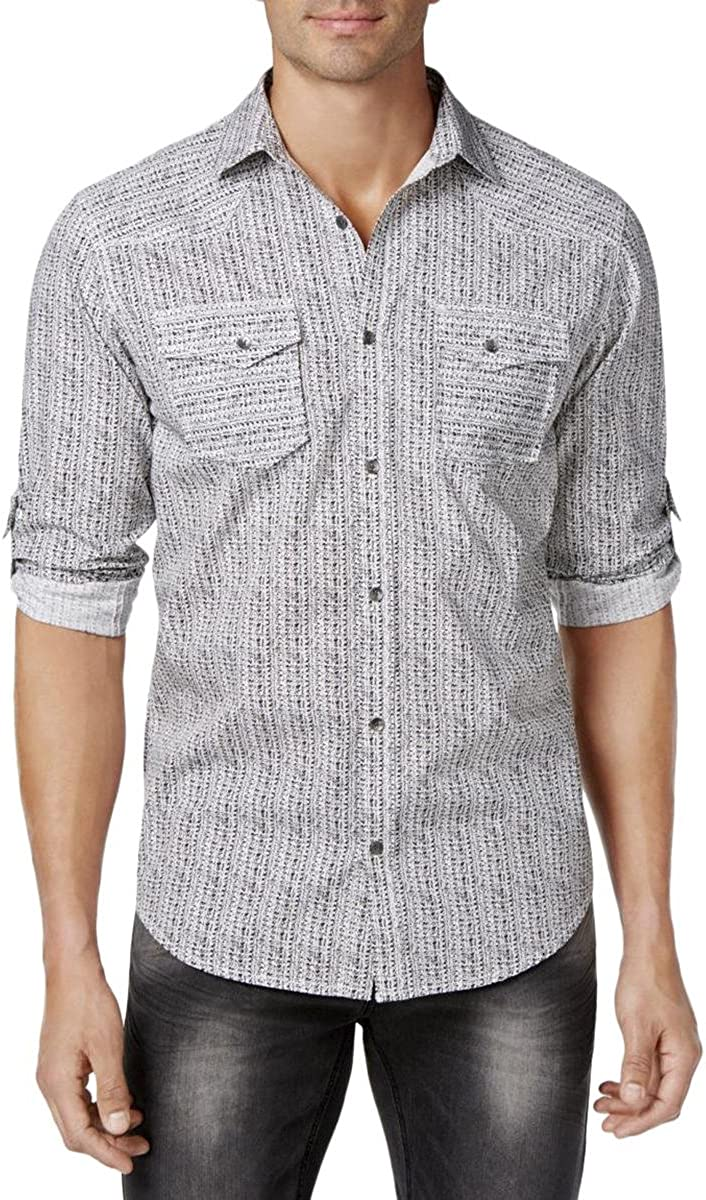 I-N-C Mens Dual Pocket Button Up Shirt