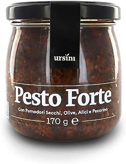 Ursini Salsa Pesto con Tomate seco, Aceitunas, anchoas y Queso pecorino - 170 gr (Paquete de 2 Piezas)