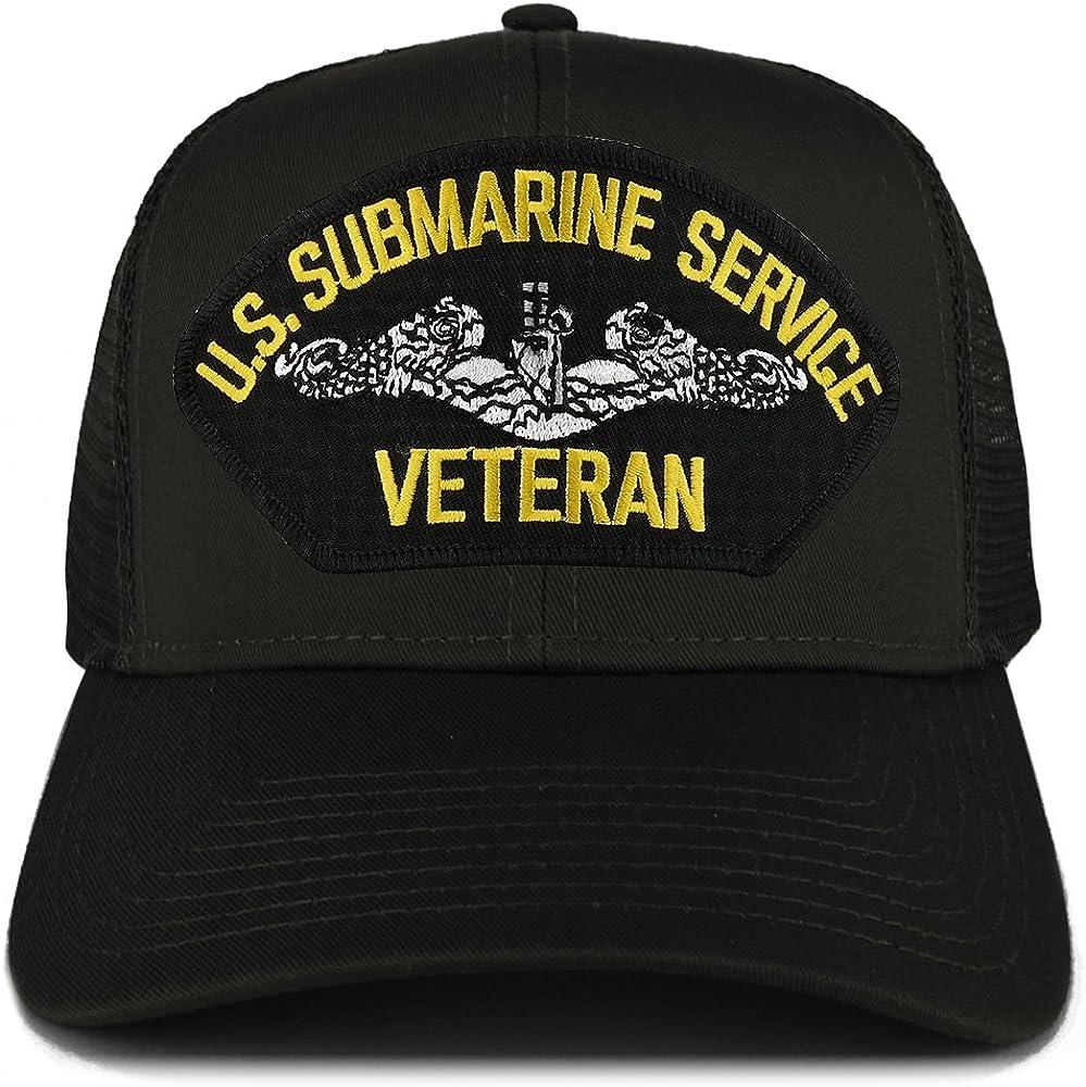 Armycrew XXL Oversize US Submarine Veteran Large Patch Mesh Back Trucker Cap