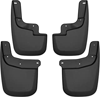 Husky Liners Fits 2015-19 Chevrolet Colorado, 2015-19 GMC Canyon - without Fender Flares or Cladding Custom Front and Rear Mud Guard Set