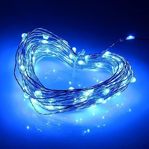 Yakamoz Fairy String Lights, 10M 100LEDs Battery Operated Waterproof LED String Lights (Blue)