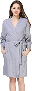 Anna King Women's Waffle Robe Lightweight Soft Kimono Knit Bathrobe Loungewear Sleepwear Short S-XL