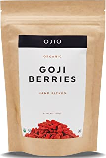 OJIO Wildcrafted Organic Goji Berries | Juicy Sweet | Rich in Antioxidants to Support Healthy Skin & Energy | Raw | All-Na...
