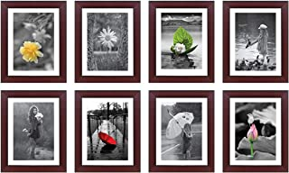 Amazon Brand - Solimo Collage Rosewood Set of 8 Photo Frames (8 X 10 inch - 8)