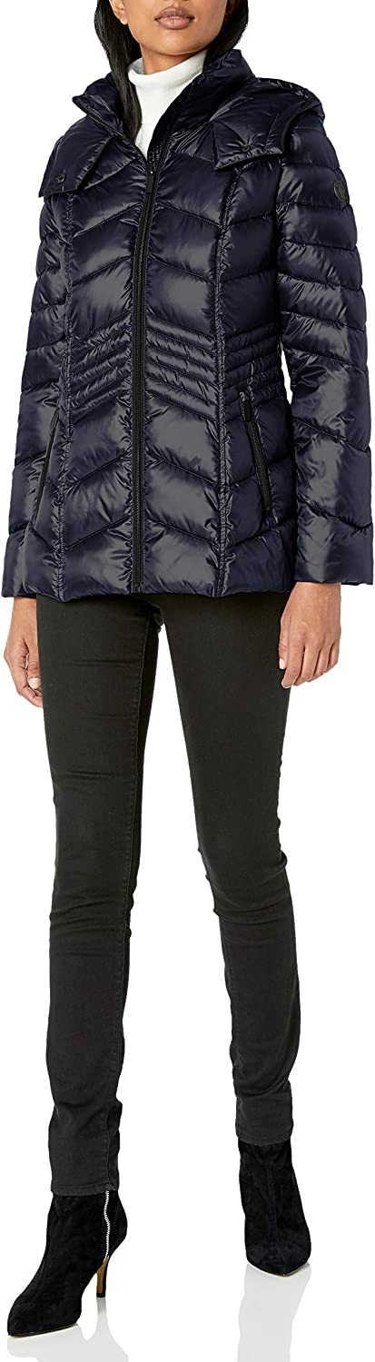 French Connection Women's Chevron Quilted Packable Jacket