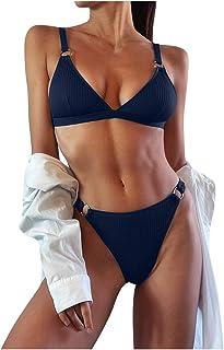 Janly Clearance Sale Swimwear for Women , Women Solid Lace Bikini Set Push Up Swimsuit Beachwear Padded Swimwear , Easter ...
