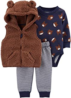 Carter's Baby Boys 3 Piece Little Vest Set (Bear)