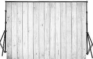 Sensfun 8x6ft White Wood Photo Backdrop Vinyl White Gray Shabby Retro Wooden Plank Photography Backgrounds for Wedding Newborn Birthday Cake Table Decor Photobooth Banner Photo Studio Props(WP063)