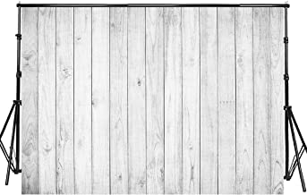 Sensfun 8x6ft White Wood Photo Backdrop Vinyl White Gray Shabby Retro Wooden Plank Photography Backgrounds for Wedding Newborn Birthday Cake Table Decor Photobooth Banner Photo Studio Props(WP063)