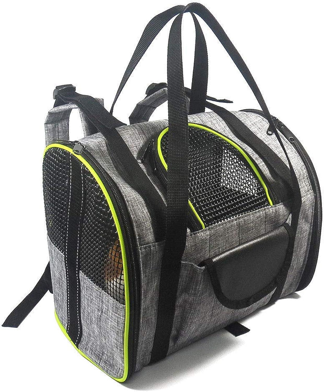 FidgetKute Breathable Pet Backpack Pet Carrier Bag Folding Bag Portable Shoulder Bag C9Q0