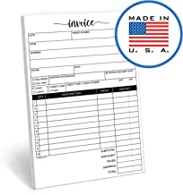 321Done 2-Part Carbonless Invoice Pad, 50 Sets (5.5 x 8.5 Inches) White/Canary Yellow Sales Receipt Book Purchase Order Form Small Business - Made in The USA - Cute Script