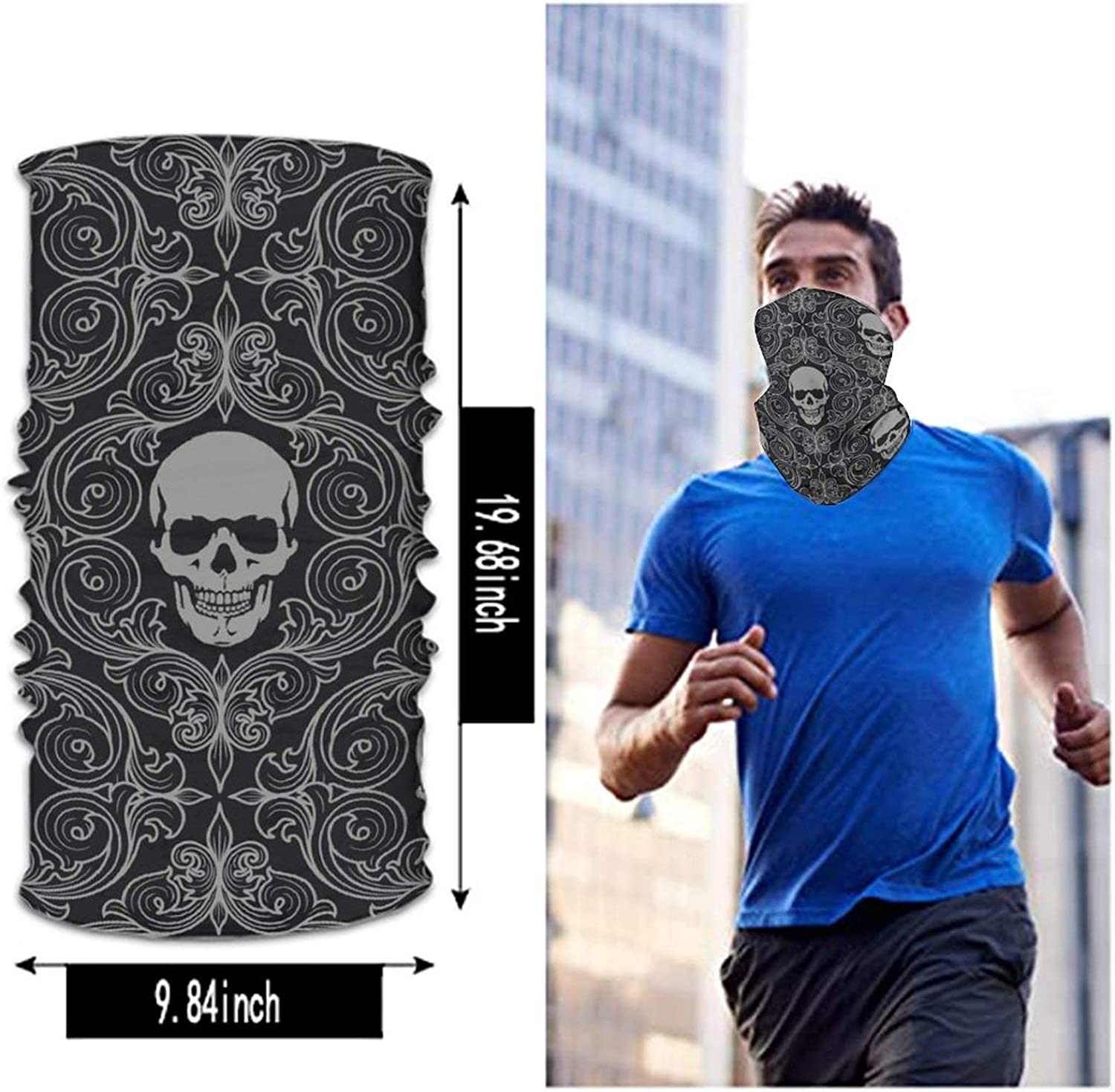 Men and Women Face Mask Ice Silk Face Cover Fast dry Bandanas Headband