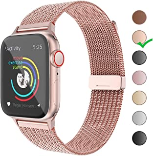 Compatible with Apple Watch Band 38mm 40mm 42mm 44mm,Stainless Steel Mesh Loop for iWatch Bands...
