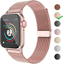 BELONGME Compatible with Apple Watch Band 38mm 40mm 42mm 44mm,Stainless Steel Mesh Loop for iWatch Bands Women Men Series 5 4 3 2 1