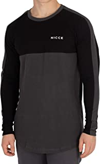 Nicce Sweatshirt For Men - Black & Grey, XL