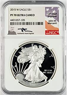2015 W Mercanti Signed Silver Eagle $1 PF70 NGC