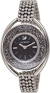 Swarovski Women's Black Dial Stainless Steel Band Watch - 5181664, Black, Analog Display
