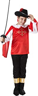 Costumizate! Disfraz de Mosquetero Talla 1-3 Especial para niños Fiestas de Disfraces o Carnaval