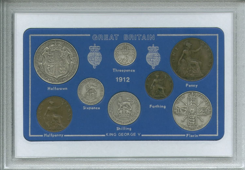 Historicgiftsets 1912 GB Great Britain British Coin Birth Year Vintage Retro Antique Gift Set (107th Birthday Present)
