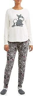 Women's Disney Thumper Plush Fleece 3-Piece Sleepwear Pajama Set