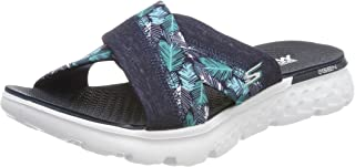 Skechers Performance Women's On The Go 400 Tropical Flip Flop, Navy Tropical, 6 M US
