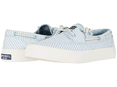 Sperry Crest Boat Seersucker (Blue/White) Women