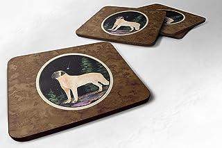"Caroline's Treasures SS8505FC Starry Night Anatolian Shepherd Foam Coasters Set of 4 (Set of 4), 3.5"" H x 3.5"" W, Multicolor"