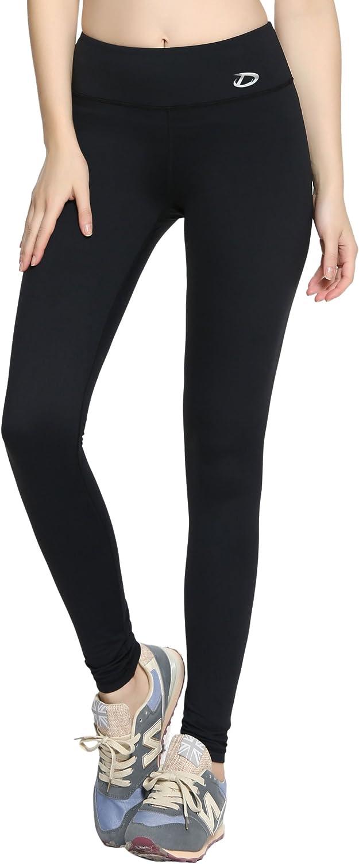 Premium Women Compression Pants w  HIDDEN Pocket  Tights, Leggings, Running, Yoga, Gym (XLarge)