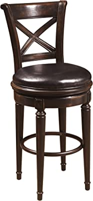 Amazon Com Ball Amp Cast Jayden Wooden Swivel Bar Stool